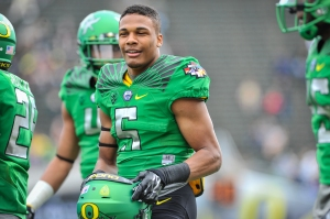 Taj Griffin will be a large source for  Oregon's next year. (Photo courtesy of fishduck.com)