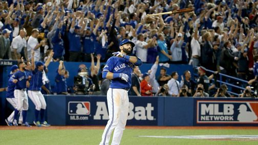 Jose Bautista needs to keep flipping his bat all the way to the World Series.