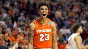 Malachi Richardson has been Syracuse's spark plug during the tournament, can he replicate this success in Houston? Photo Courtesy of CBS Sports.