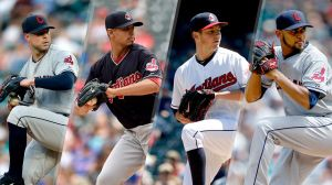 There's been no drop-off at all this season in the Indians' rotation. Photo courtesy of cleveland.com.